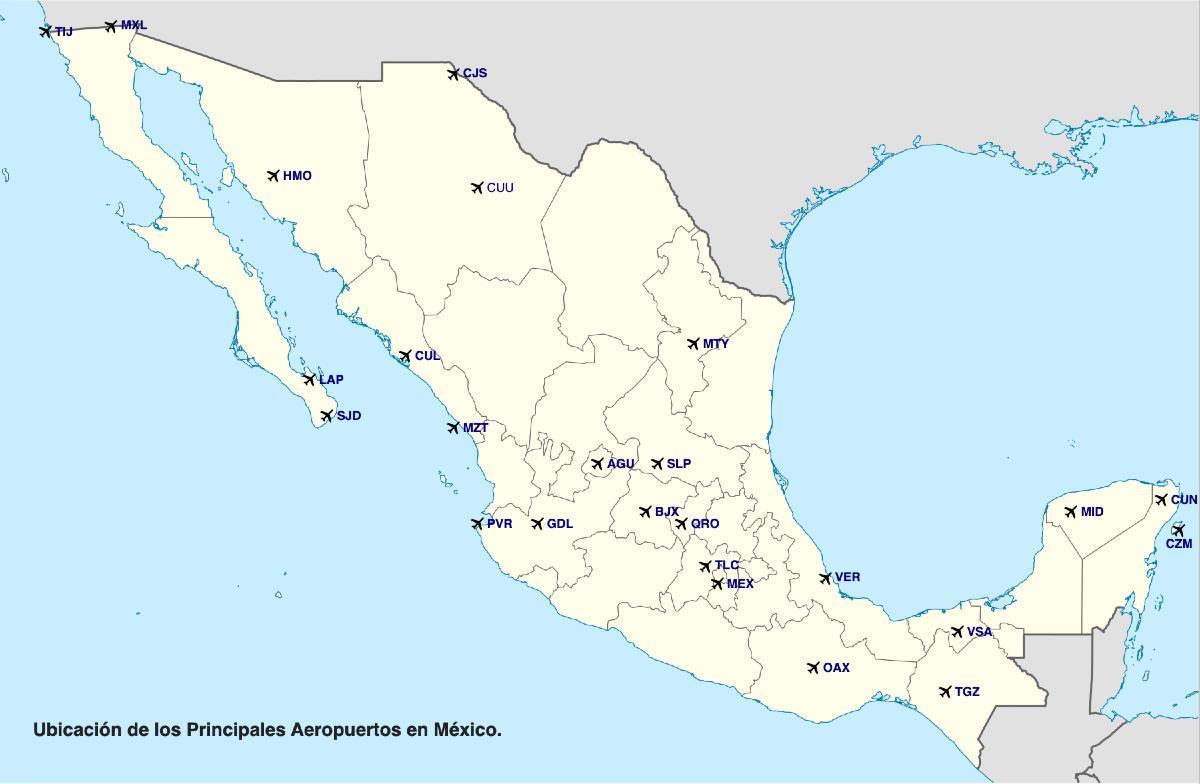 Mapa Aeropuerto de México
